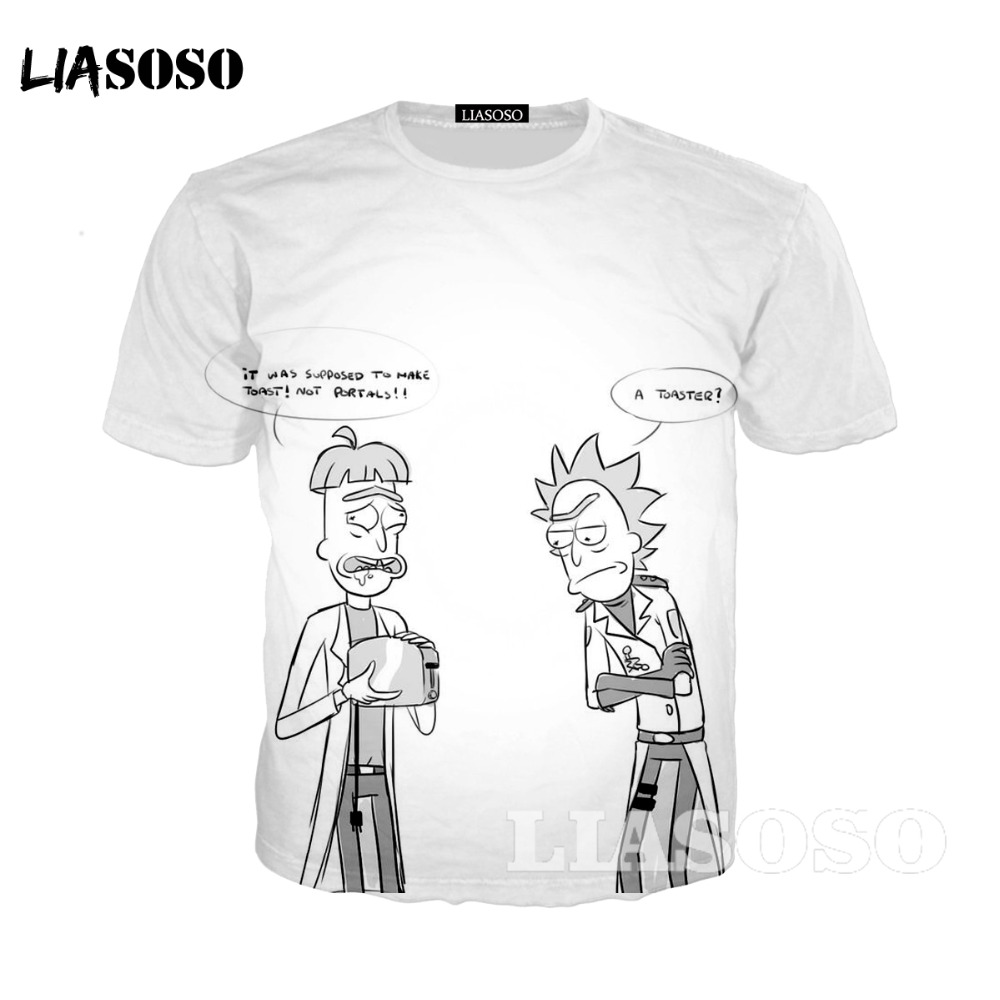 LIASOSO ricka and morty tshirt Opinion Means Nothing T-Shirt rick y morty funny t shirts clothing short sleeve t-shirt Q1542