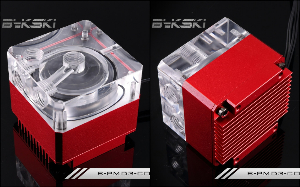 Bykski B-PMD3-COV Water Cooling Pump with Heatsink 500L DDC Red bykski b pump pav water cooling pump with heatsink 300l