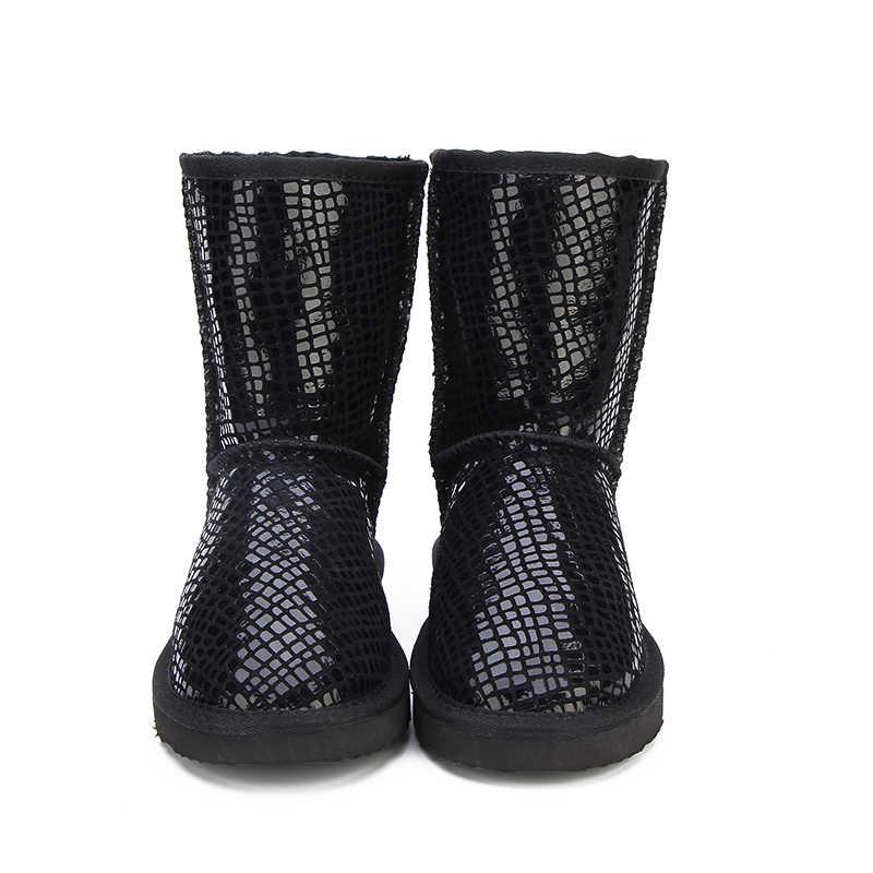 MBR KRAFT Australien Klassische Heißer Verkauf Mode Echtem Rindsleder Schnee Stiefel Winter Fell Wasserdichte Frauen Schuhe Botas Mujer
