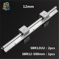 Free shipping SBR12 12mm rail L500mm linear guide with 2pcs SBR12UU Set cnc router part linear rail