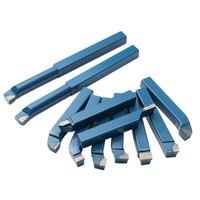 10x10mm (3/8 Polegada) mini torno de metal conjunto de ferramentas para metal trabalho torno rosca carboneto ponta de corte torneamento chato bit carboneto