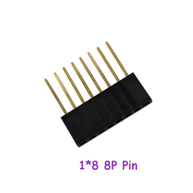 100pcs/lot  Long Row Mother 2.54 Spacing PC104 11MM 1*8 8P Pin