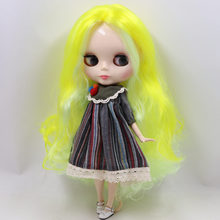 ICY Neo Blythe Doll Yellow White Hair Jointed Body 30cm