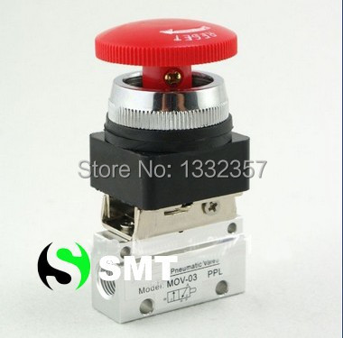 MOV 03 2 Way 2 Position 18 Thread Push Button Switch Pneumatic