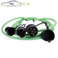 2 м 32Amp 3 фазы Тип 2 к Тип 2 кабель для зарядки аккумулятора с евровилкой EVSE разъем EV Plug электромобиль зарядное устройство для электромобиля шн