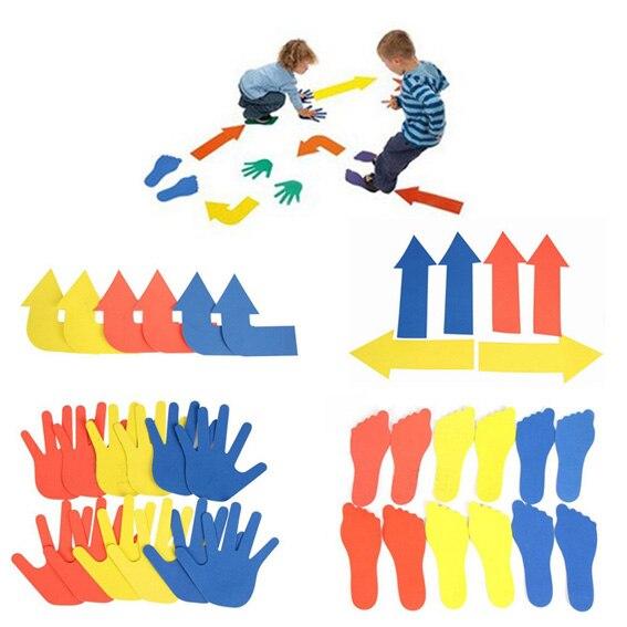 Kid's arrows games toys hands and feet jumping outdoor play games school kindergarten sport equipment