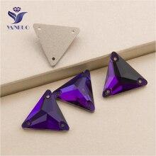 YANRUO Strass de velours violet | Toutes les tailles, diamant ample, Triangle Flatback beauté cristal cousu sur les Strass, 3270