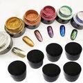 6 Colores DIY Espejo Polvo de Pigmento de Uñas Brillo Del Arte Del Clavo Efecto cromo Espejo Mágico Polvo Para Esmalte de Uñas de Gel Decoración herramienta