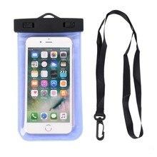 Kosongkan Telefon Mudah Alih Kalis Air Dengan Tali Untuk Kolam Renang Luar
