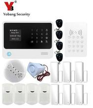 YobangSecurity WIFI GSM Home Alarm System Quad Band APP Management PIR Movement Detector Door Sensor RFID Keypad Distant Management Equipment