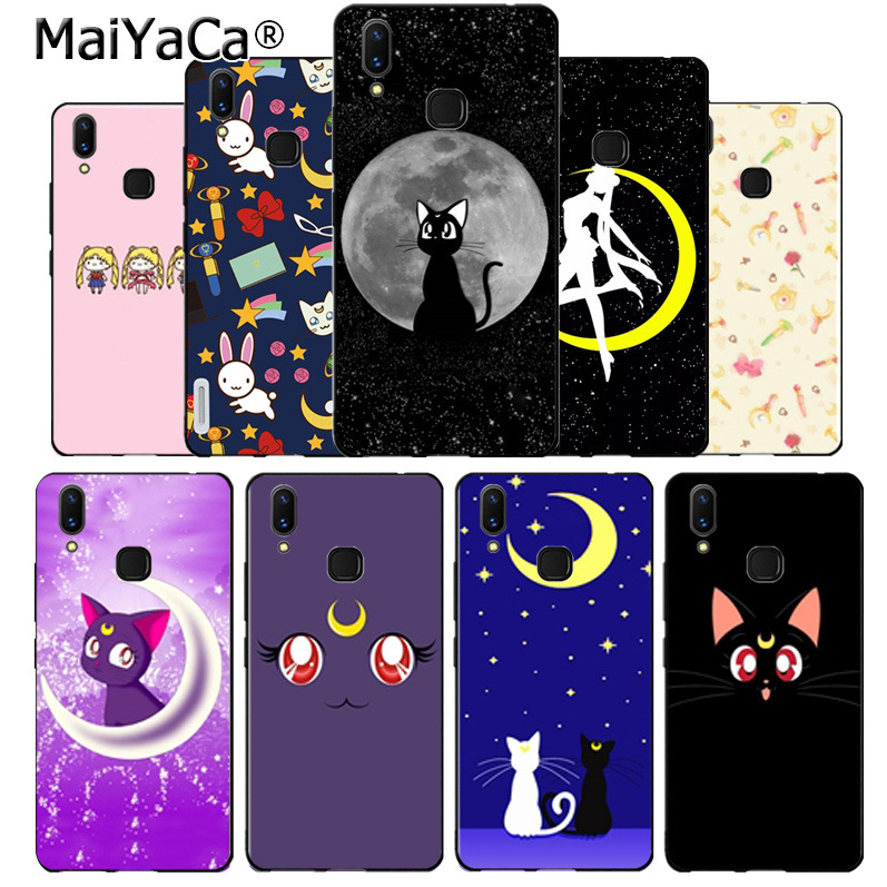 Half-wrapped Case Spirited Maiyaca Sailor Moon Luna Cat Amazing Soft Tpu Phone Case Cover For Vivo V9 X20 X20plus X21 X21 Ud Nex Y83 V7 Y97 Coque Utmost In Convenience Phone Bags & Cases