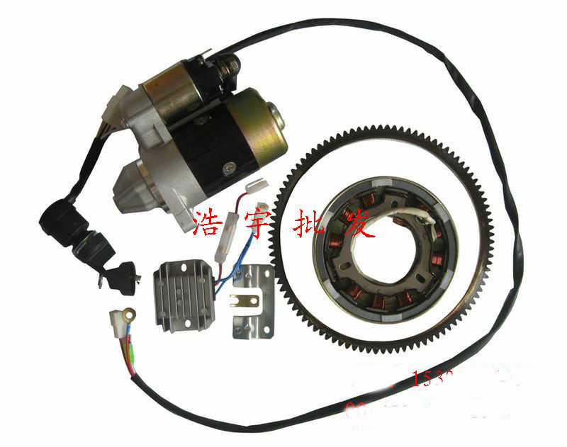 170F 178F 186F diesel engine generator starter motor Hand start to change electric start (note the model 170 178 or 186 to us)