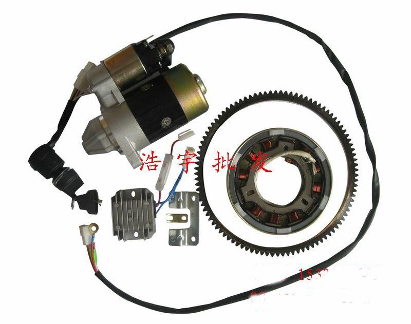 170F 178F 186F moteur diesel démarreur moteur démarrage à la main pour changer de démarrage électrique (notez le modèle 170 178 ou 186 pour nous)