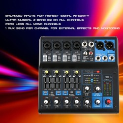 8 Channel Professional DJ Powered Mixer Power Mixing Amplifier USB Slot 16DSP +48V Phantom Power for Microphones