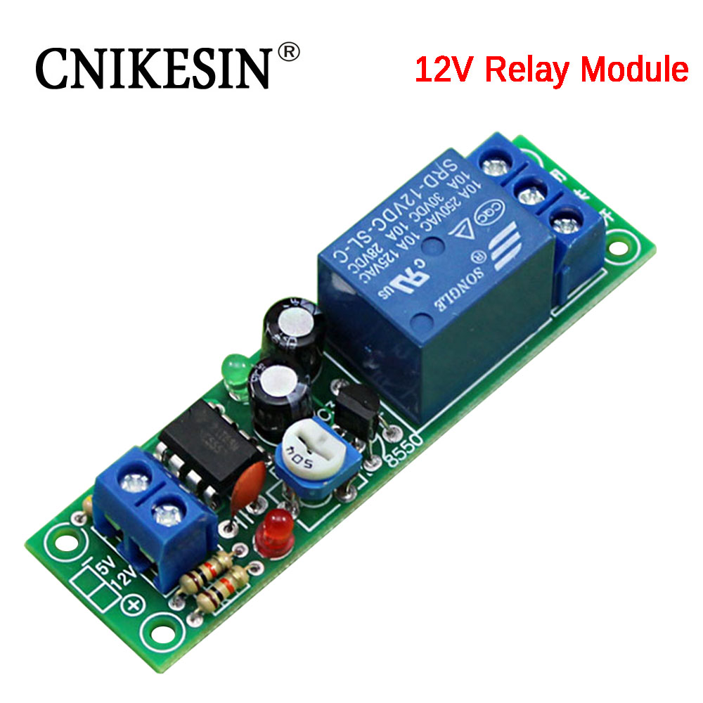 Hot Sale Cnikesin 12v Delay Relay Module 0 60 Seconds Closed On Circuit 10a Load Capacity Active Components Integrated Circuitsd3a5