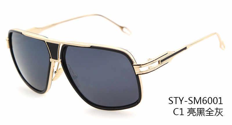 e69d51b9081 ... New arrival grandmaster Sunglasses women men 18K Glod Sunglass brand  designer Mach One Vintage Oversized ...