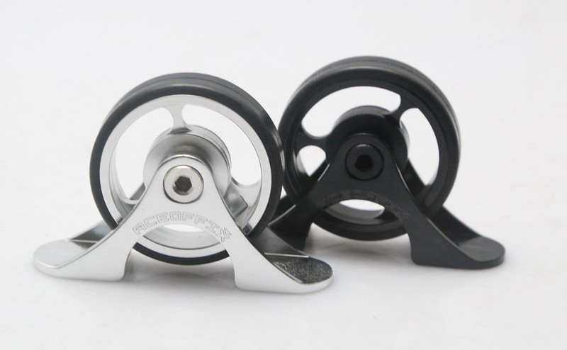 Stylish Mudguard Roller For BROMPTON Black Aluminium