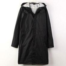 Black/Blue cloak Raincoat Men waterproof long fishing Rain Coat Men Ponchos Jackets Chubasqueros Impermeables capa de chuva