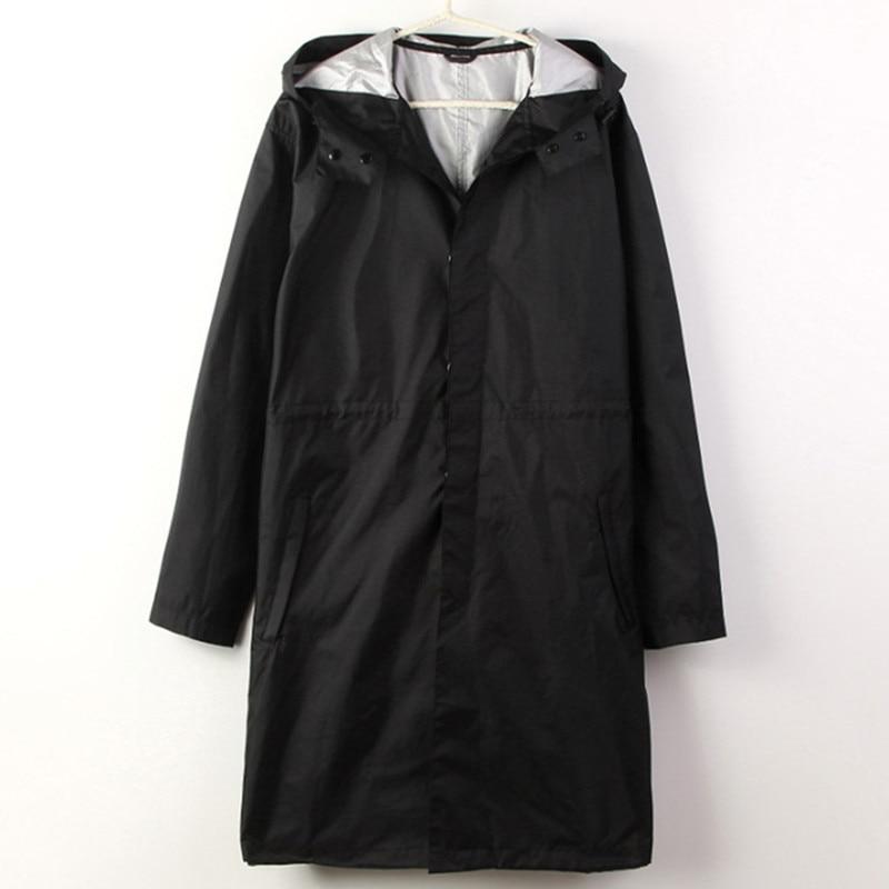 Noir/Bleu cape Imperméable Hommes imperméable à l'eau longue pêche Pluie Manteau Hommes Ponchos Vestes Chubasqueros Impermeables capa de chuva