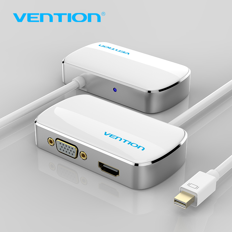 Vention Thunderbolt HDMI VGA 4K 2 in 1 Mini Displayport To HDMI VGA Adapter Cable For Apple MacBook Pro iMac Mac HDTV projector vention mini dp к vga hdmi dvi конвертер apple интерфейс mini displayport