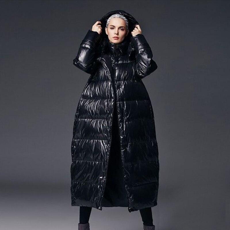 852fdc7a3009 2018 New Fashion Winter Coat Jacket Women Long White Duck Down Jacket Warm  Feamel Jacket Warm Coat Down Long Plus Size 5XL Parka