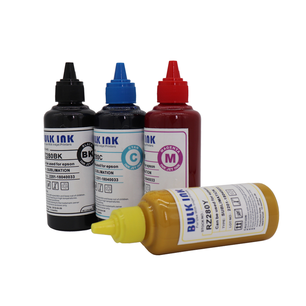 Sublimation Ink Heat Transfer Ink For EPSON Inkjet Printer 4 colorx100ml amazing price 50 meter solvent 4 line ink tube spare part for all inkjet printer machine ink supply system ink pipe