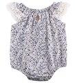 Los Bebés recién nacidos Ropa costura de Encaje Floral Mameluco Del Mono Mono corto Traje