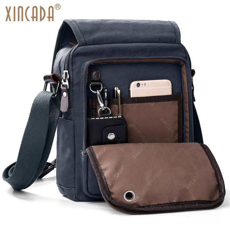 XINCADA Canvas Shoulder Bag Messenger Bag Purses and Handbags Crossbody Bags Travel Bag Designer Handbags High Quality