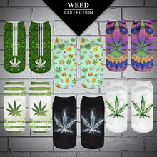 2017 New Women's Girls Casual Weed Plant Shape Socks With Print Hemp Meias Calcetiness Mujer Low Cut Ankle Socks For Women