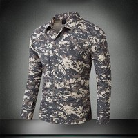 Men S Summer Quick Dry Camouflage Sleeve Detachable Shirt Outdoor Training Climbing Breathable Removable TWO Parts