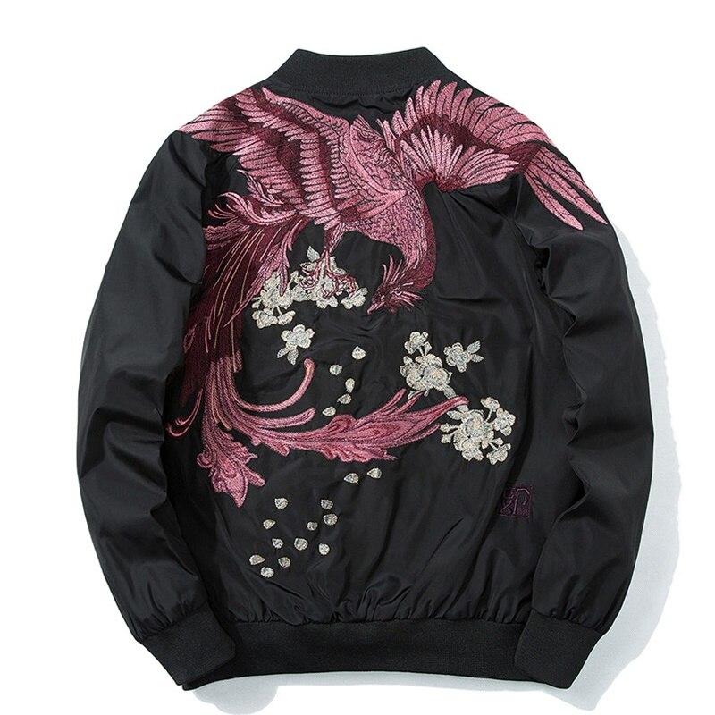 Streetwear japonais hommes bomber veste matelassée homme dragon kimono veste hommes vêtements d'hiver 2018 KK2425