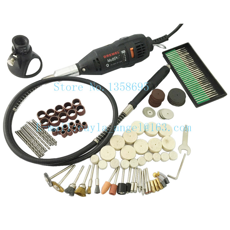цена на Mini Dremel Electric Drill Grinder Motor with 170pcs Polishing Drilling Grinding Sawing Honing Accessories Abrasive Tools