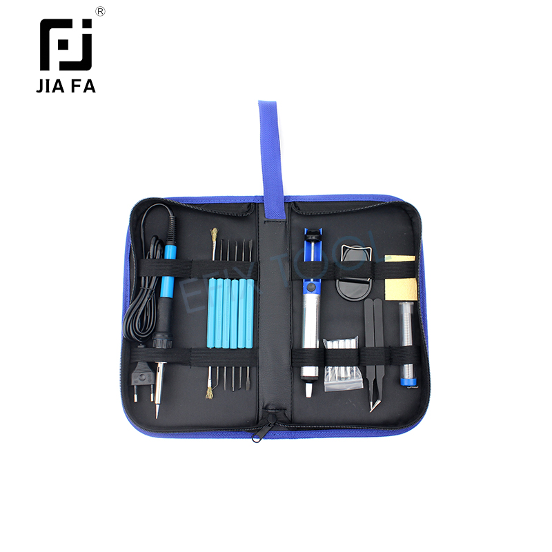 Profession Welding Soldering Iron Repair Tool Set For Mobile Phone Tablet Laptop Fix Hand Tools Kit JF-8125 16 in 1 household profession multi purpose repair tool set with soldering iron digital mulimeter for laptop pc tablet