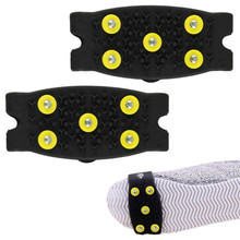 Fishsunday Hot Snow Ice Climbing Anti Slip Spikes Grips  Cleats 5-Stud Shoes Cover M2-28 July07