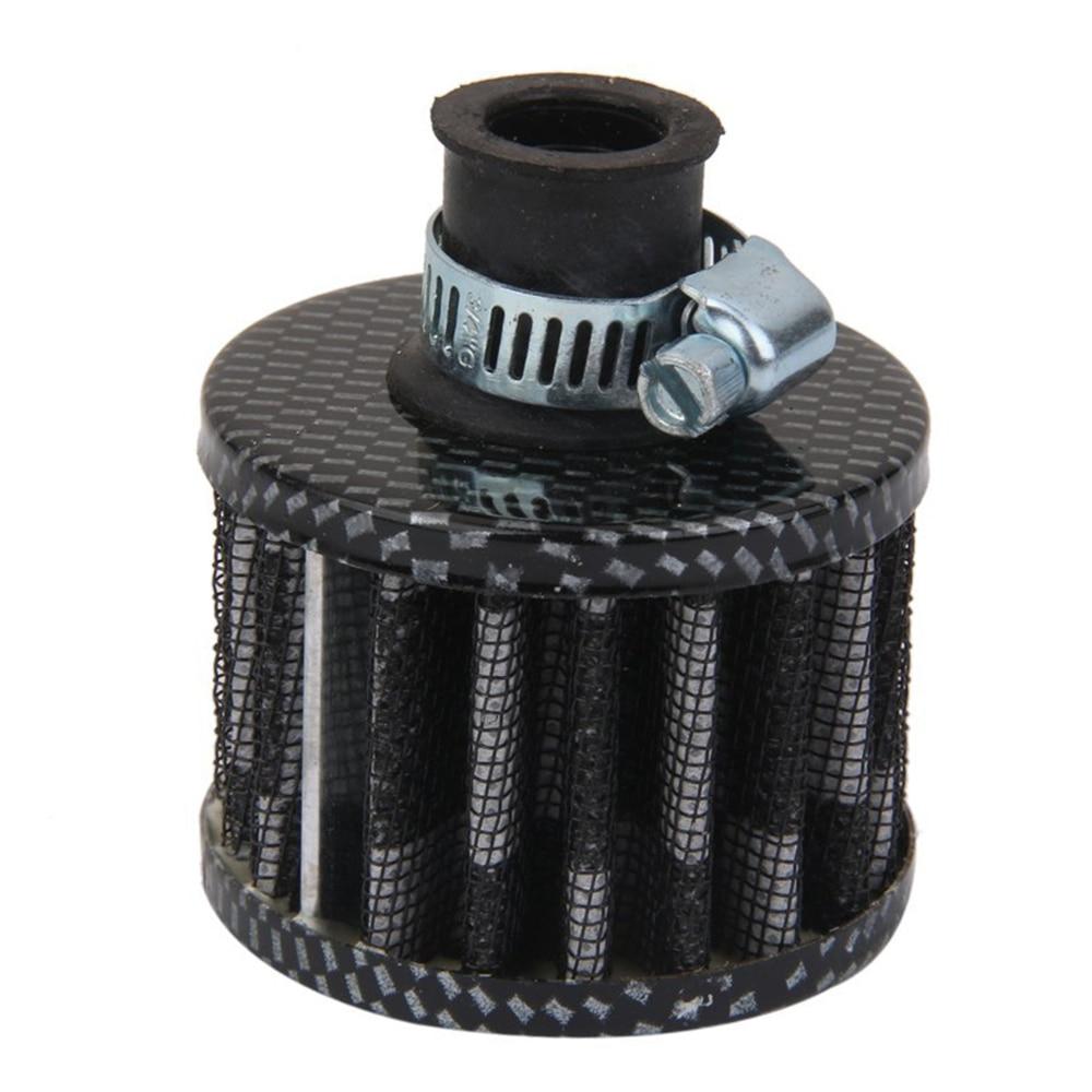 12mm Car Air Filter Car Car Turbo Ventilation Breather Carter, Black