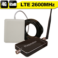 4G LTE 2600 Band 7 Mobile Phone Signal Booster 65dB Smart Control 4G Internet Cell Phone Repeater Amplifier 4G 2600 Antenna Set
