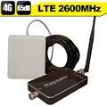 4G LTE 2600 Banda 7 65dB Amplificador de Señal de Teléfono Móvil Inteligente Control 4G Internet Teléfono Celular Repetidor Amplificador 4G 2600 Antena Set