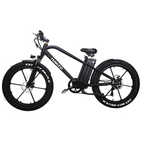 26inch Fat e bike 48V500W electric mountain bicycle hybrid pas off road snow bike 4.0 fat tires EMTB smart lcd ebike