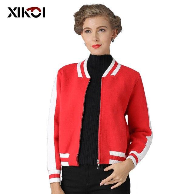 XIKOI Phụ Nữ Chiếc Áo Len Đan Áo Len Mùa Thu Mùa Đông Mở Stitch Cardigans O-Cổ Rắn Với Túi Áo Khoác Cardigan Áo Khoác 2019