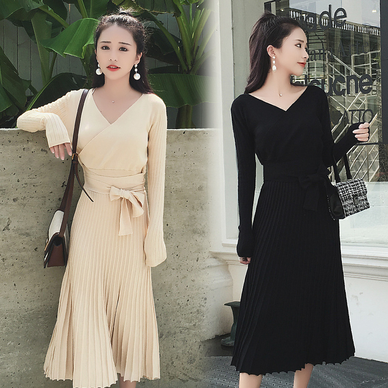 Maternity Clothes Autumn Winter Knitted Breastfeeding Dress for Pregnant Women Pregnancy Nursing Dress Outerwear Elegant grrcosy long maternity knitted sweaters dress for pregnancy autumn winter sexy split bottoming dress for pregnant women