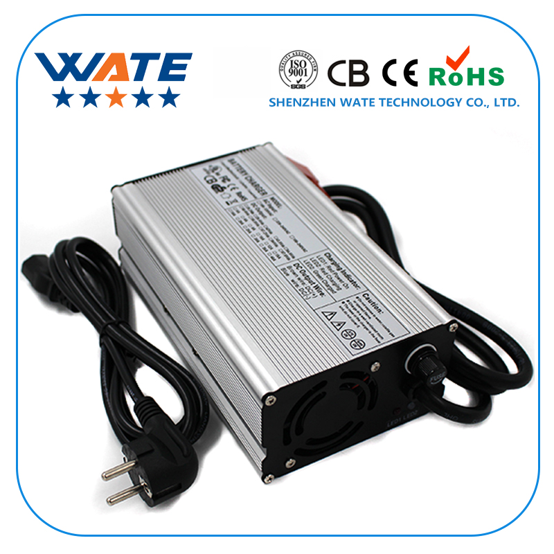 WATE 37.8V 9A Charger 33.3V Li-ion Battery Smart Charger Used for 9 series 33.3V E-bike With fan Auto-Stop Smart Tools 79 8v 6a charger 70 3v li ion battery smart charger used for 19s 70 3v li ion battery e bike auto stop smart tools