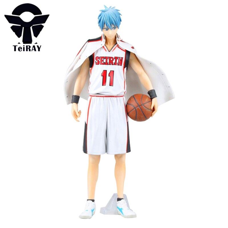 Kuroko No Basket Tetsuya Kuroko Standing with Cloak Figuras 25cm Black White Pvc Japanese Anime Figures Kids Hot Toys for Boy