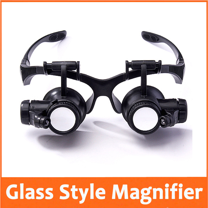 10X 15X 20X 25X Illuminated Goggle Glasses Style Reading ...