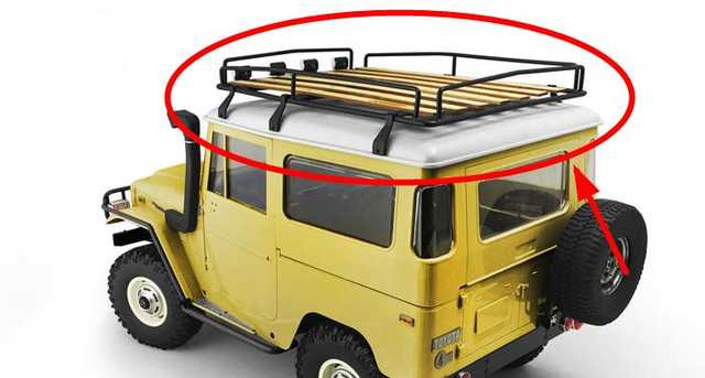 Us 1590 Metal Luggage Wooden Roof Rack Wboard Or Led Lights For 88wd 110 G2 Land Cruiserfj40 In Parts Accessories From Toys Hobbies On