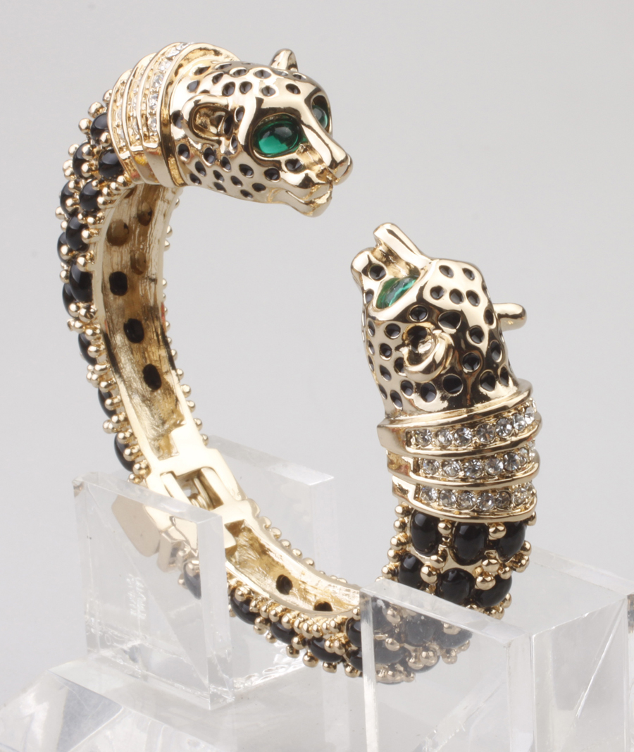 GrayBirds New Fashion Animal Leopard Panther Cuff Bangles Bracelet For Women Party Anniversary Gift More Colors In Stock GBB1186 delicate leopard print cuff bracelet for women