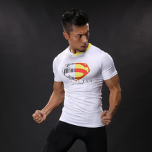 Upgraded version Superman Compression Shirts Men 3D Printed T-shirts Short Sleeve Cosplay Costume crossfit fitness Clothing Tops