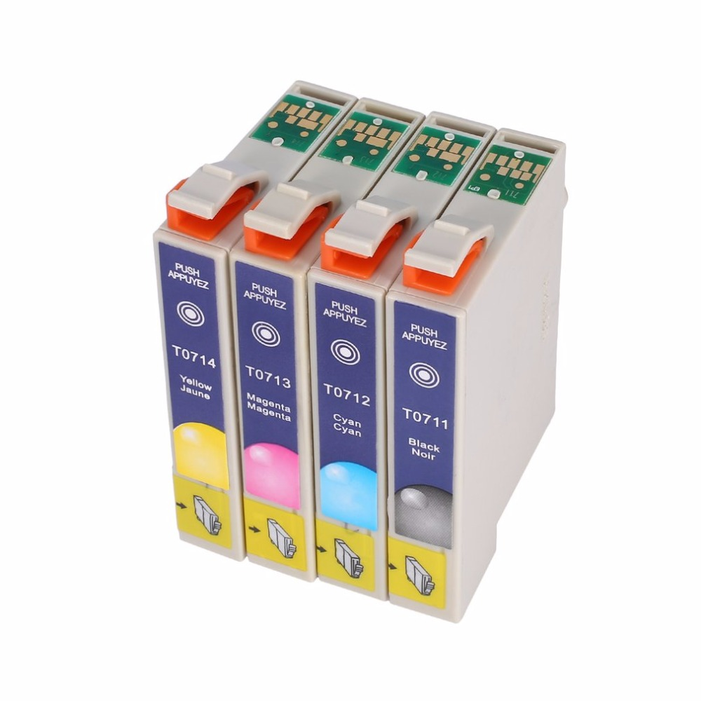 Genuine T0715 Multipack Ink Cartridges For Epson T0711 T0712 T0713 T0714 4 Colors Easy to use water resistanceGenuine T0715 Multipack Ink Cartridges For Epson T0711 T0712 T0713 T0714 4 Colors Easy to use water resistance