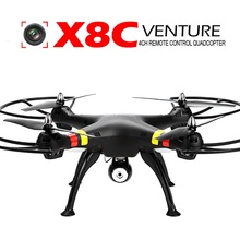 Syma X8C 2.4Ghz 6-Axis Gyro RC Quadcopter Drone 2MP HD Camera Battery EU US Plug Black Helicopter Boy Kids Adult Toy Gift RTF