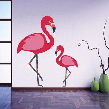 Flamingo Animales Pegatinas De Pared Ninas Parvulario Sala Arte