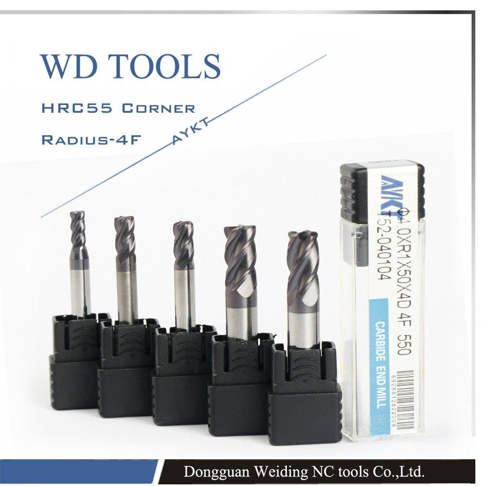 ФОТО 10XR0.5/1X75L  4 flute' corner radius milling carbide cutting tools